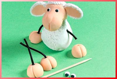 Ovejas realizadas en pasta fimo - Como hacer una oveja ...